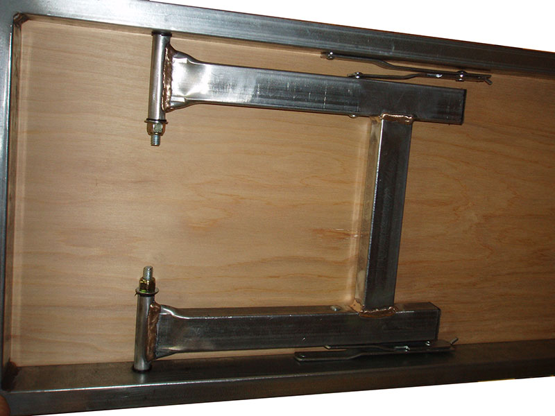 Model A Bench Seat ~ Folding bench seats table
